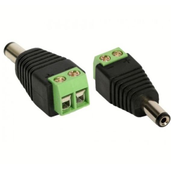 Conector Plug P4 Macho Borne Câmeras C/ Sistema Cftv 5 Peças