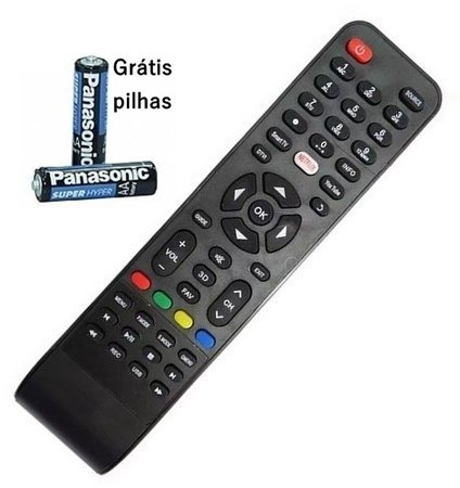 Controle Remoto Tv Philco Led Smart You Tube Pilhas Gratis