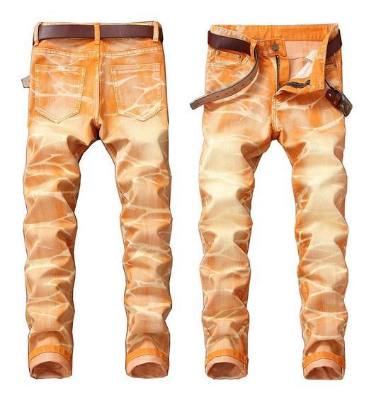 Pantalones Pitillo Elásticos Casuales Largos Para Hombres