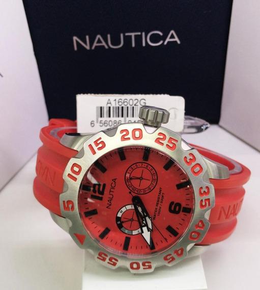 Relógio Nautica A16602g Aço Inox Cronografo Multi Função