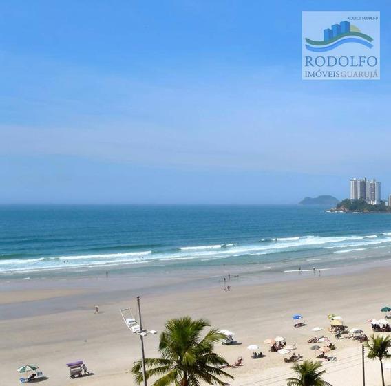 Oportunidade Frente Ao Mar!! Guarujá Pitangueiras, 3 Dts, Sacada, Linda Vista Mar!! - Ap0010