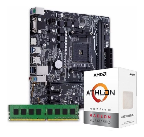 Combo Kit Actualización Amd Athlon 3000g A320 4gb Asus Royal