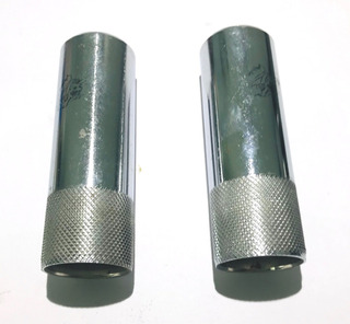 Par De Pedalines Metal Tipo Tunning Moto 110 Universal