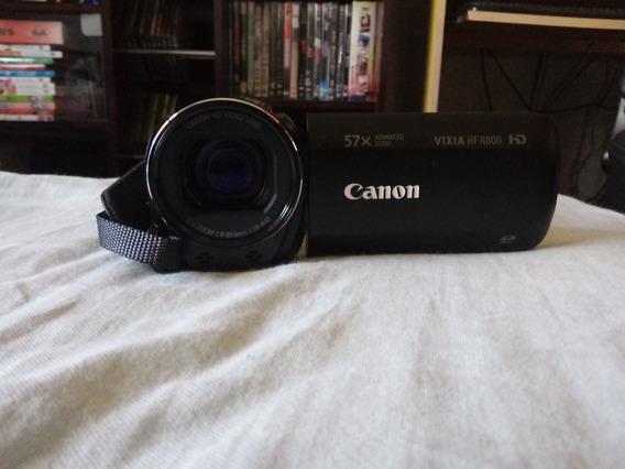 Filmadora Canon Vixia Hf R800 + Microfone Duplo De Lapela