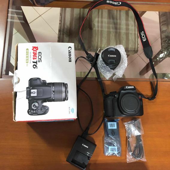 Câmera Canon T6 Com Wi-fi