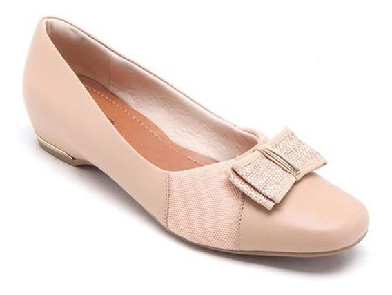 Sapato Usaflex Aa0704 Couro Especial Joanetes Salto Embutido