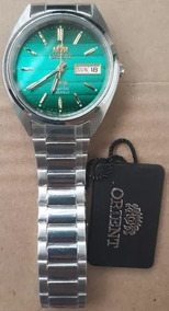 Relógio Orient Automatico Aço Masculino Classico Verde