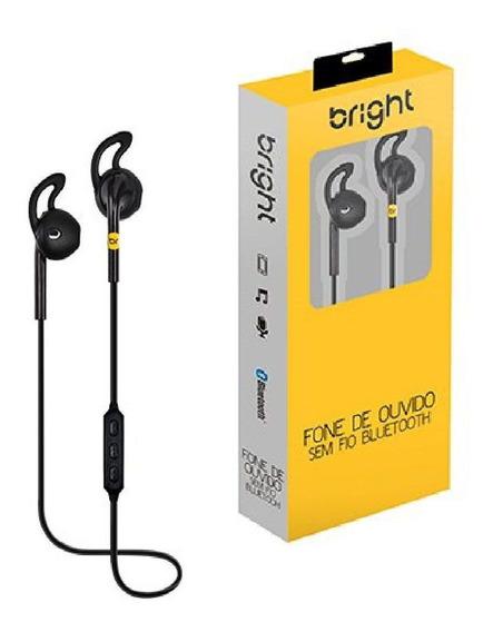 Fone De Ouvido Sem Fio Bluetooth Bright Sport 0481 Preto
