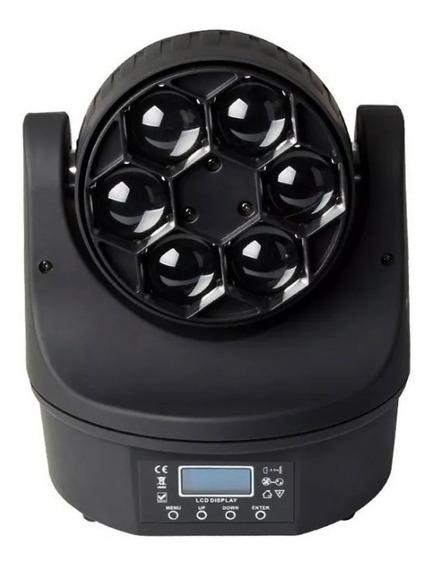 Mini Moving Bee Eye 6 Leds 15w Rgbw Dmx Iluminação Quadriled