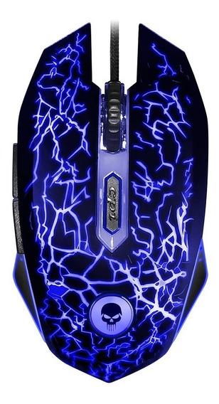 Mouse Gamer Light Rgb 2400 Dpi 6 Botões Bright 447 C/ Nf-e