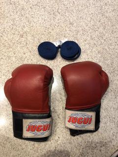 Luvas Boxe Muay Thai Jugui 10oz Com Bandagem