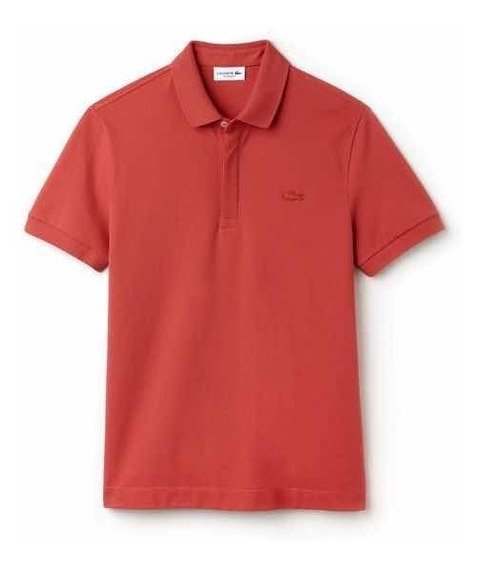Polo Lacoste Colección Paris Regular Fit Color Sierra Red