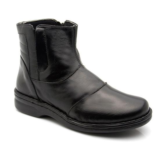 Bota Feminina 373 Em Couro Preta Doctor Shoes