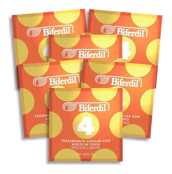 Tratamiento Capilar Biferdil 4 Con Aceite De Coco Pack 6un