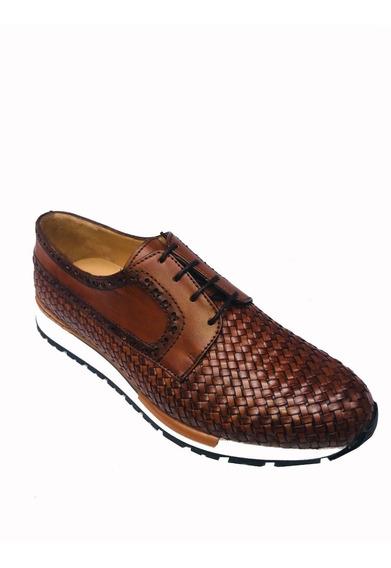 Zapato Caballero Cuadra Ternera Almendra