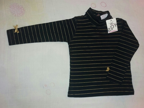 Sweater Color Negro Y Dorado Marca Epk Talla 4