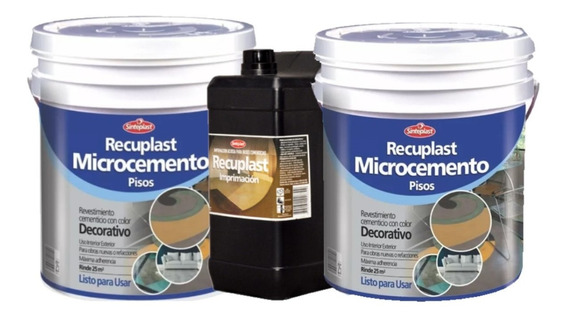 Recuplast Microcemento Kit Basico Completo 25m2- Rex