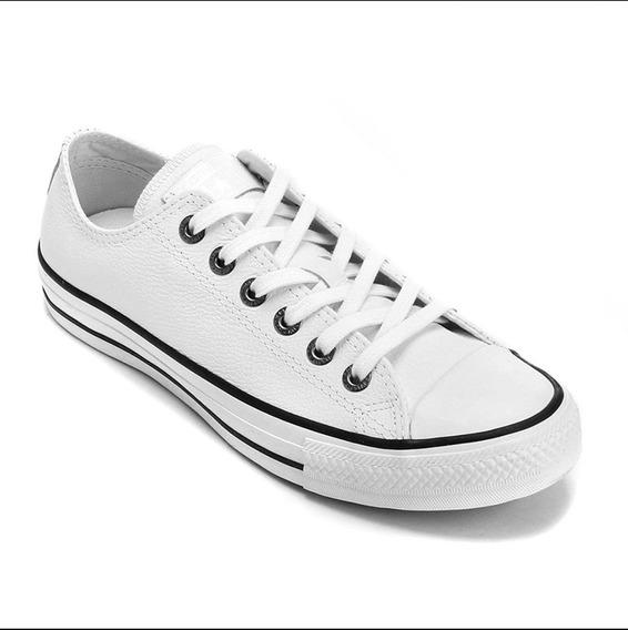 Tênis Converse All Star Couro Original - Branco