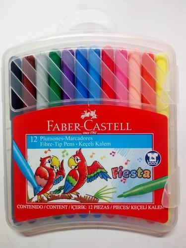 Marcadores Faber Castell ''fiesta'' X12 Caja Plástica.