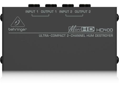 Eliminador De 2 Zumbidos Behringer Hd400 + Garantía