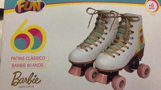 Patins Classico Barbie 60 Anos 4 Rodas 35-36 - Fun Bonellihq