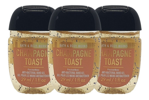 Gel Antibacterial Bath & Body Works Champagne Toast Kit 3pz