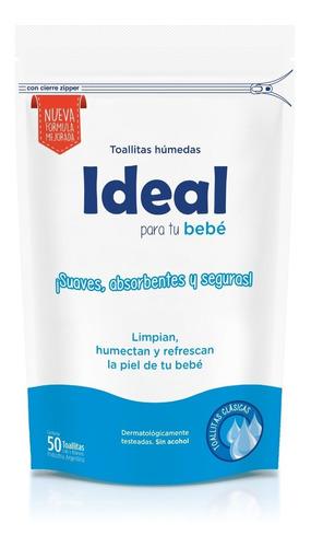 Imagen 1 de 3 de Toallitas Húmedas Ideal Clásicas Doypack X50u (24 Paquetes)
