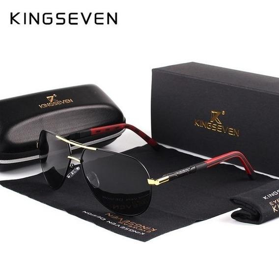 Óculos De Sol Kingseven De Luxo Estilo Aviador