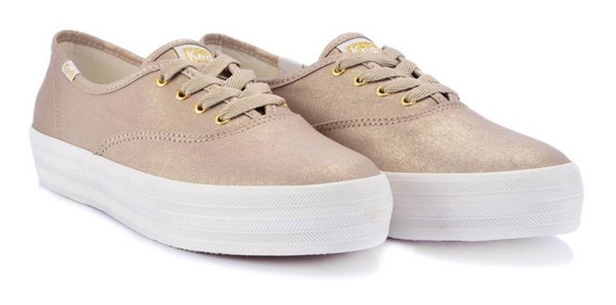 Tênis Keds Triple Metalic Canvas Original Novo