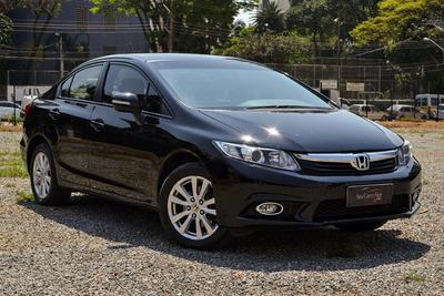 Honda Civic Lxr 2.0 - Impecável - Bancos De Couro + Multimíd