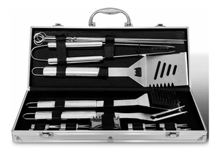 Kit O Set De Utensilios Para Bbq Carne Asada Deluxe 18 Pzs