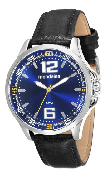 Relógio Mondaine Masculino Azul Pulseira Couro 76672g0mvnh2