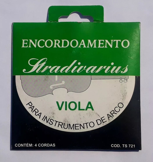 Encordoamento Viola Arco Strandivarius Ts721