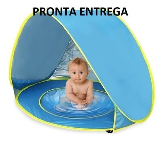 Piscina Tenda De Praia Para Bebê Proteção Sol Solar Plástico