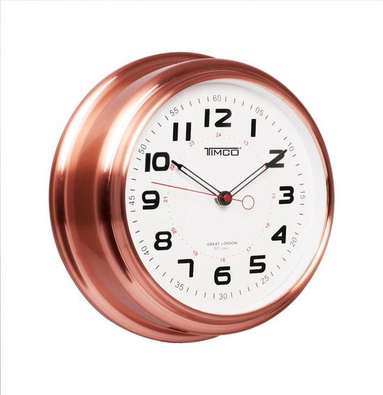 Reloj De Pared Marco De Cobre Hyw121