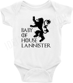 Body Bebê / Infantil - Casa Lannister - Game Of Thrones