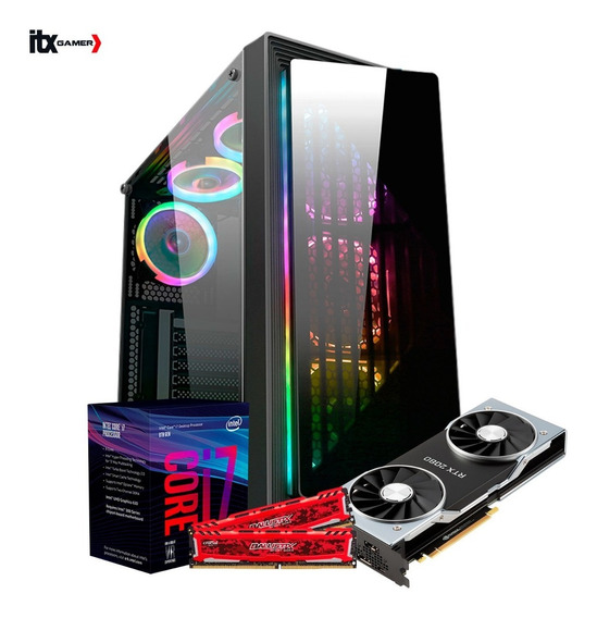 Pc Itx Gamer I7 8700 Z370m (rtx 2080 8g) 1gb/ Ssd 240gb/ 1tb