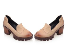Sapato Britanico Feminino De Salto Alto37,38 Salto De Borrac