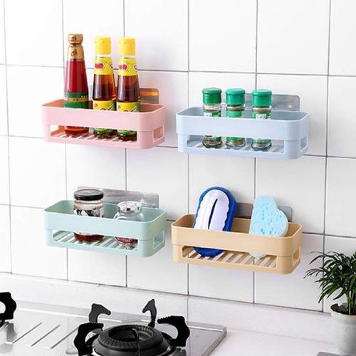 3 Porta Shampoo Sabonete Suporte De Parede Banheiro Cozinha