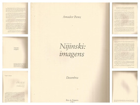 Amador Perez Nijinsky Ed. 1983 Livro