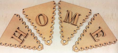 Banderín Mdf 3mm -corte Láser-somos Fabricantes