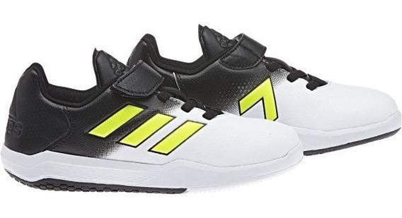 Tenis adidas Niño Alta Turf Ace K By2648 Blanco Con Negro