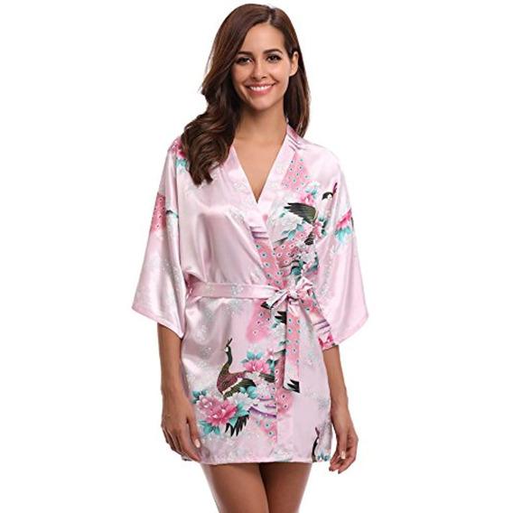 Aibrou Kimono Robe Para Mujer Albornoz De