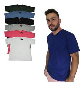 Camisetas Básicas Malha Pv Kit C/4 Tamanho Especial R$120,00