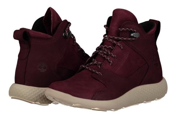 Zapato Piel Timberland A1ji7 Dama Rojo Oscuro