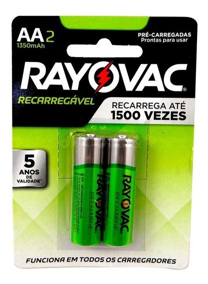 Pilha Recarregável Aa Rayovac C/2 Pilhas