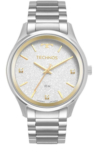 Relógio Feminino Technos Dress 2036mmb/1k 40mm Aço Prata