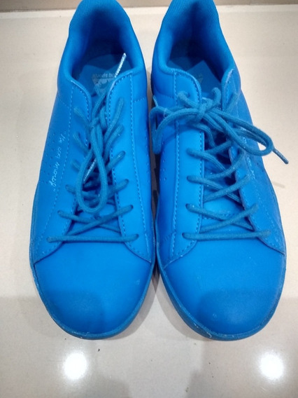 Zapatillas Lecoqsportif Azul Cuero Como Nuevas