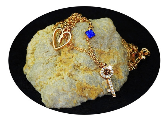 Collar Cadena Dije Oro 18k Mujer Mama Lujo Estilo Regalo