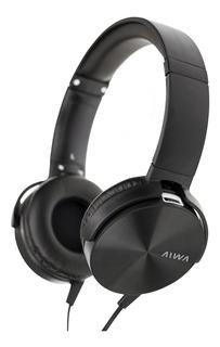 Auricular 3,5 Mic Aiwa Acabado Metalico Ava-101n